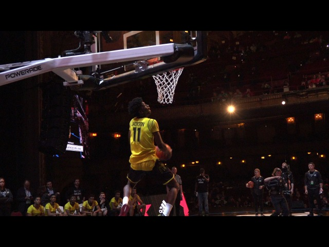Josh Jackson High-Flying Reverse Dunk at the McDonald's All-American Game