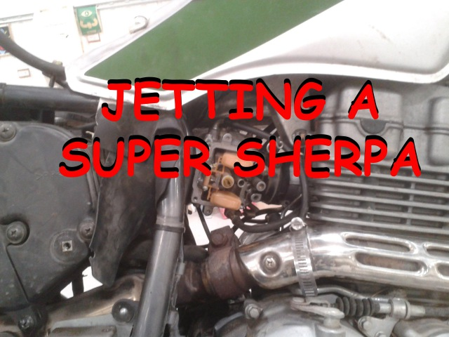 Jetting Carb in a Super Sherpa without removing carb from bike