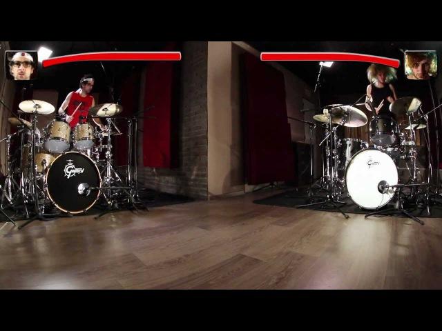 Gretsch Drums - Frenzy vs. The Beast - Battle avec Nicolas Viccaro Yann Coste