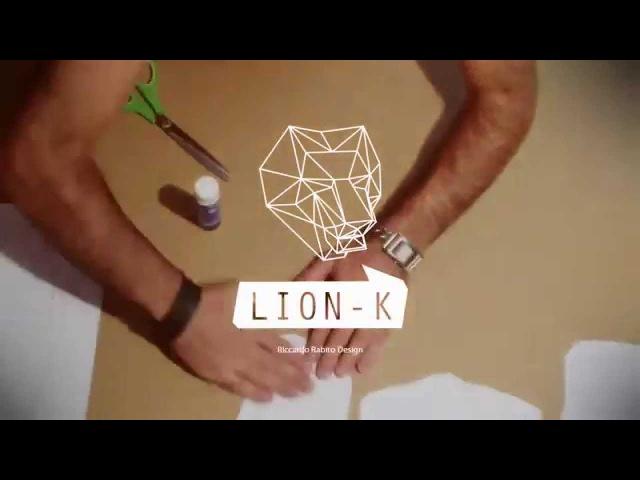 Papercraft Time lapse low poly mask Lion-K by Ricky Lui