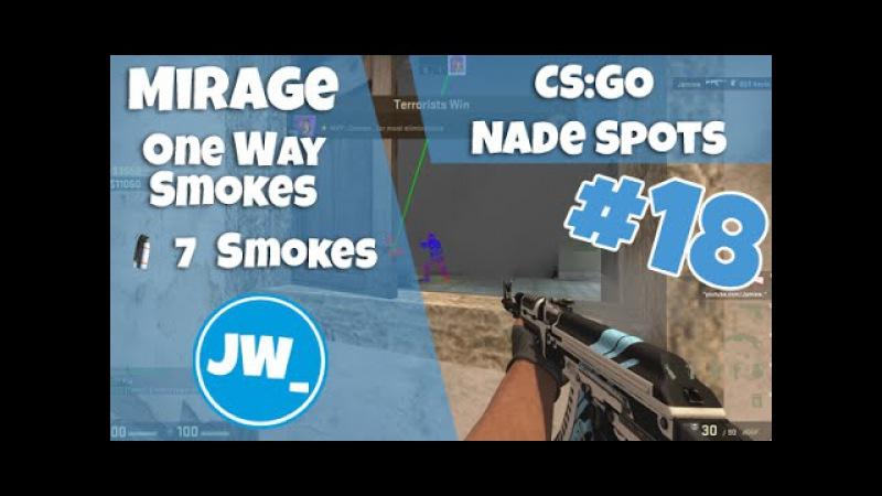 MIRAGE - ONE WAY SMOKES EP 18 | Tutorial CS:GO Nade Spots - Jamiew_