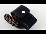 Making a leather EDC pouch for a leatherman wave with fire steel torch and Zippo