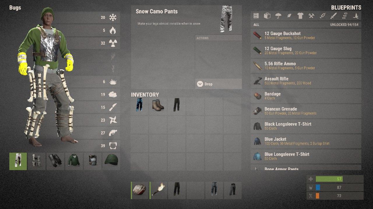 Обновленный инвентарь и новая одежда