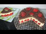 Торт с клубникой  Clip c