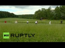 Жерар Депардье покосил траву в белорусских полях