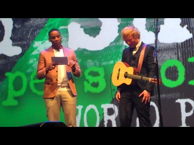 Ed Sheerans performance Q A in full @ The Jumpers for Goalposts premiere 221015