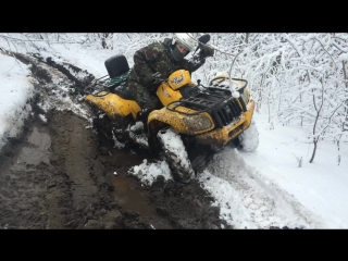 Квадроциклы ноябрь 2015 снег и грязь