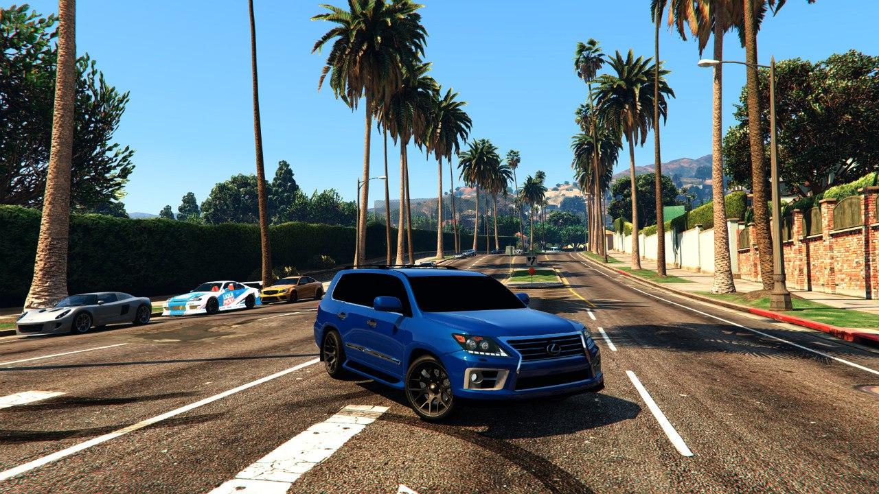 2014 Lexus LX 570 для GTA V - Скриншот 3