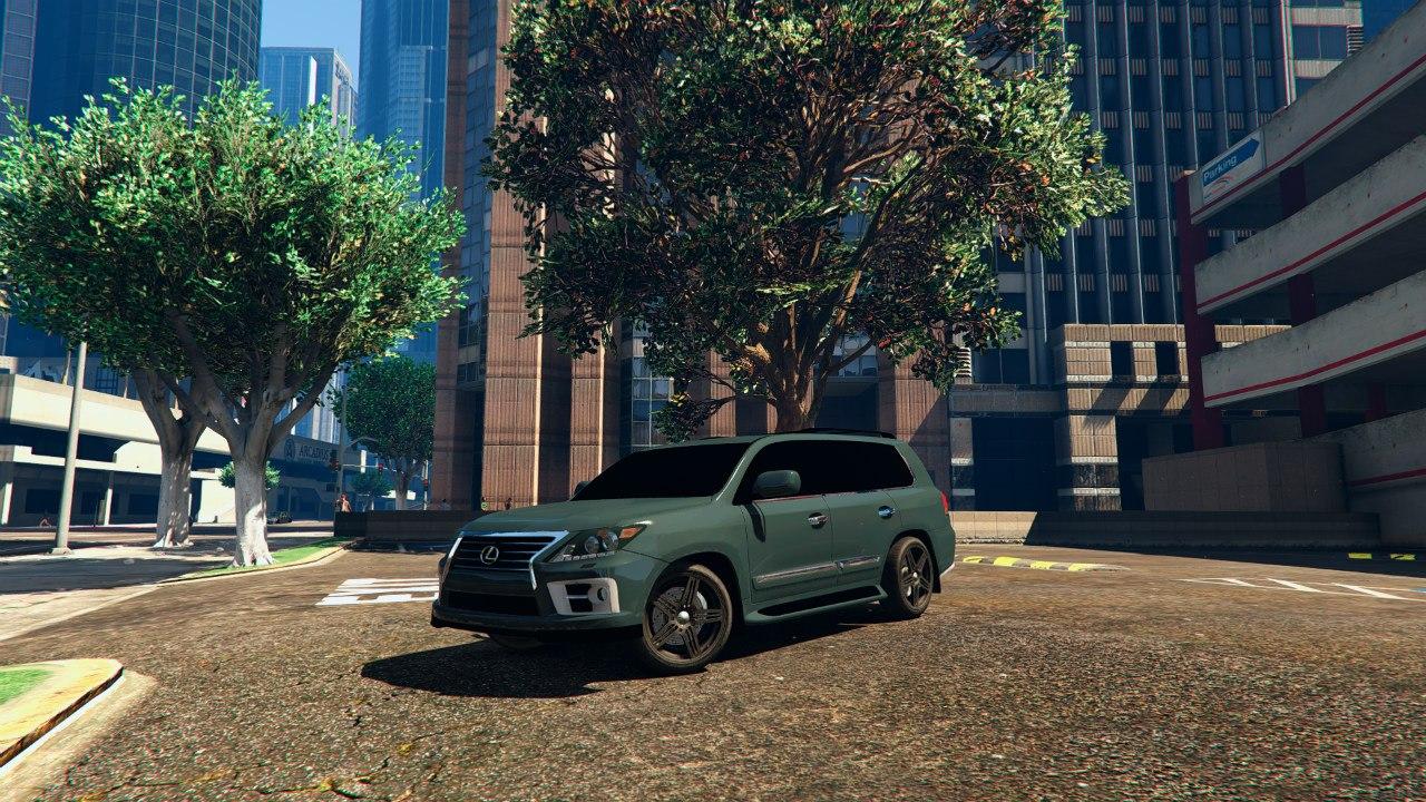 2014 Lexus LX 570 для GTA V - Скриншот 1