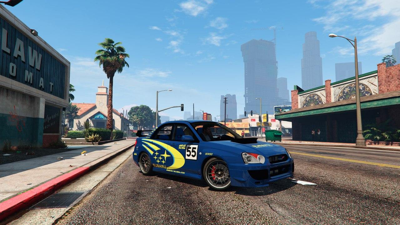 Subaru Impreza WRX Rally Colin McRae Paintjob для GTA V - Скриншот 1