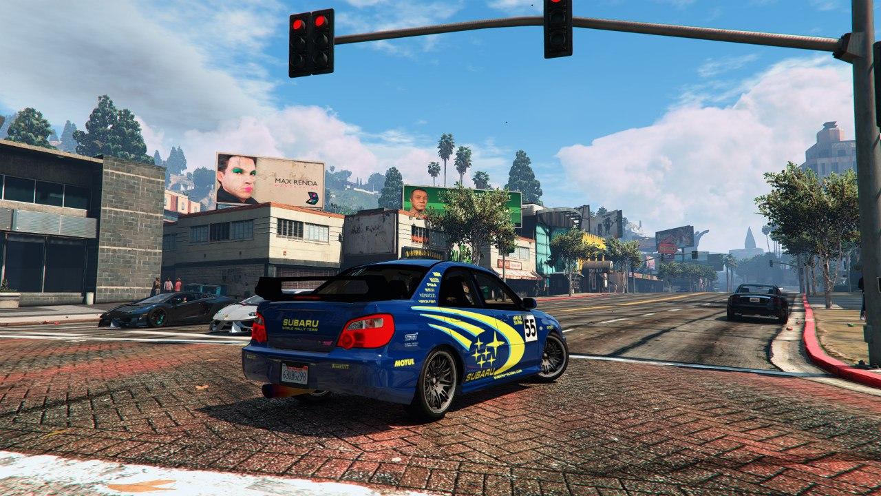 Subaru Impreza WRX Rally Colin McRae Paintjob для GTA V - Скриншот 3