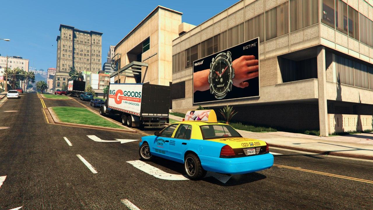 2008 Crown Victoria Taxi v1.1 для GTA V - Скриншот 1