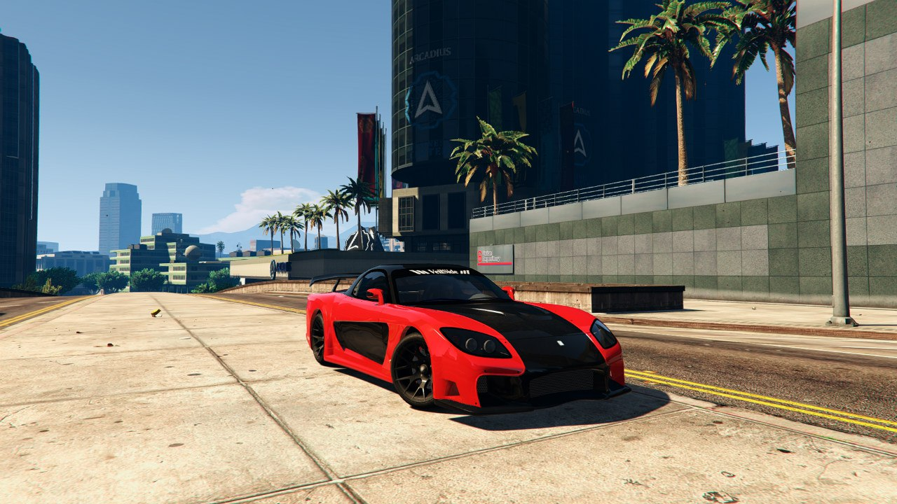 Mazda RX7 Veilside Fortune 0.1 для GTA V - Скриншот 1