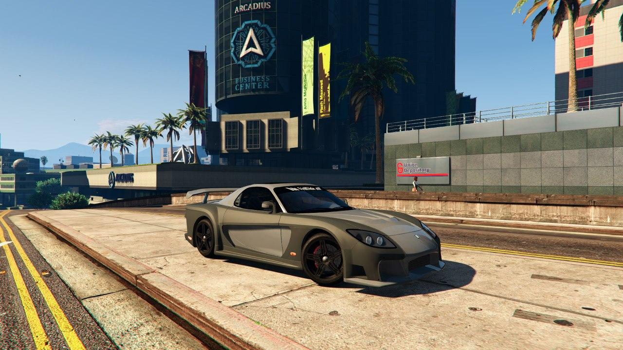 Mazda RX7 Veilside Fortune 0.1 для GTA V - Скриншот 2