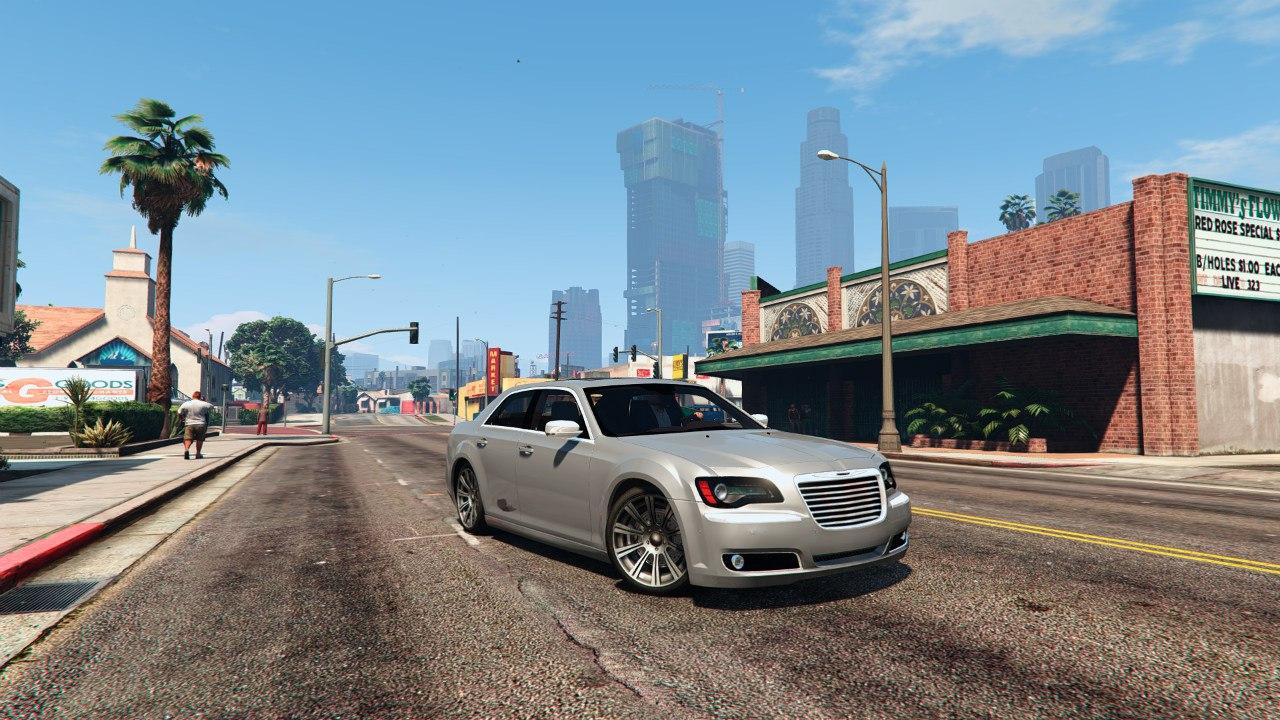 2012 Chrysler 300C v0.1 для GTA V - Скриншот 1