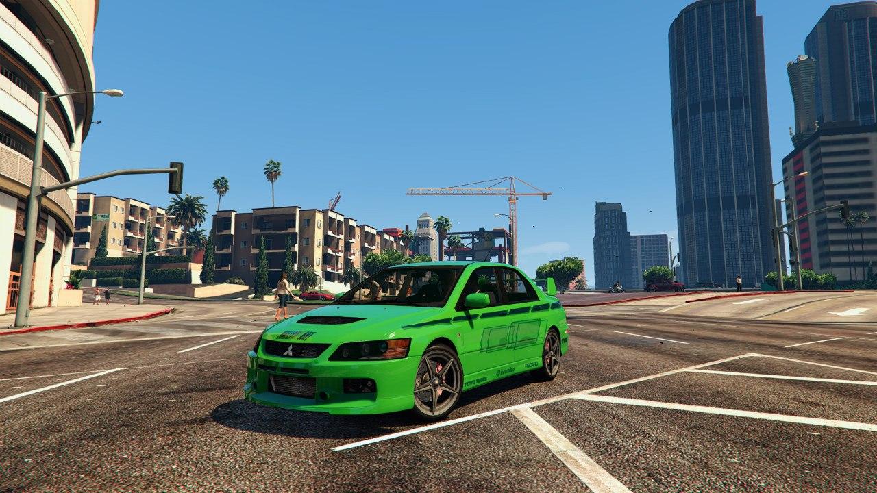 Mitsubishi Lancer (2 Fast 2 Furious) для GTA V - Скриншот 1