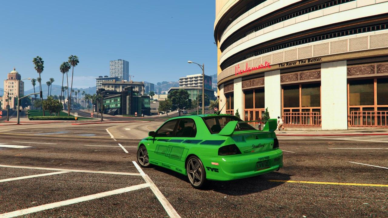 Mitsubishi Lancer (2 Fast 2 Furious) для GTA V - Скриншот 2