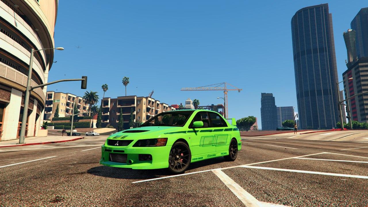 Mitsubishi Lancer (2 Fast 2 Furious) для GTA V - Скриншот 3