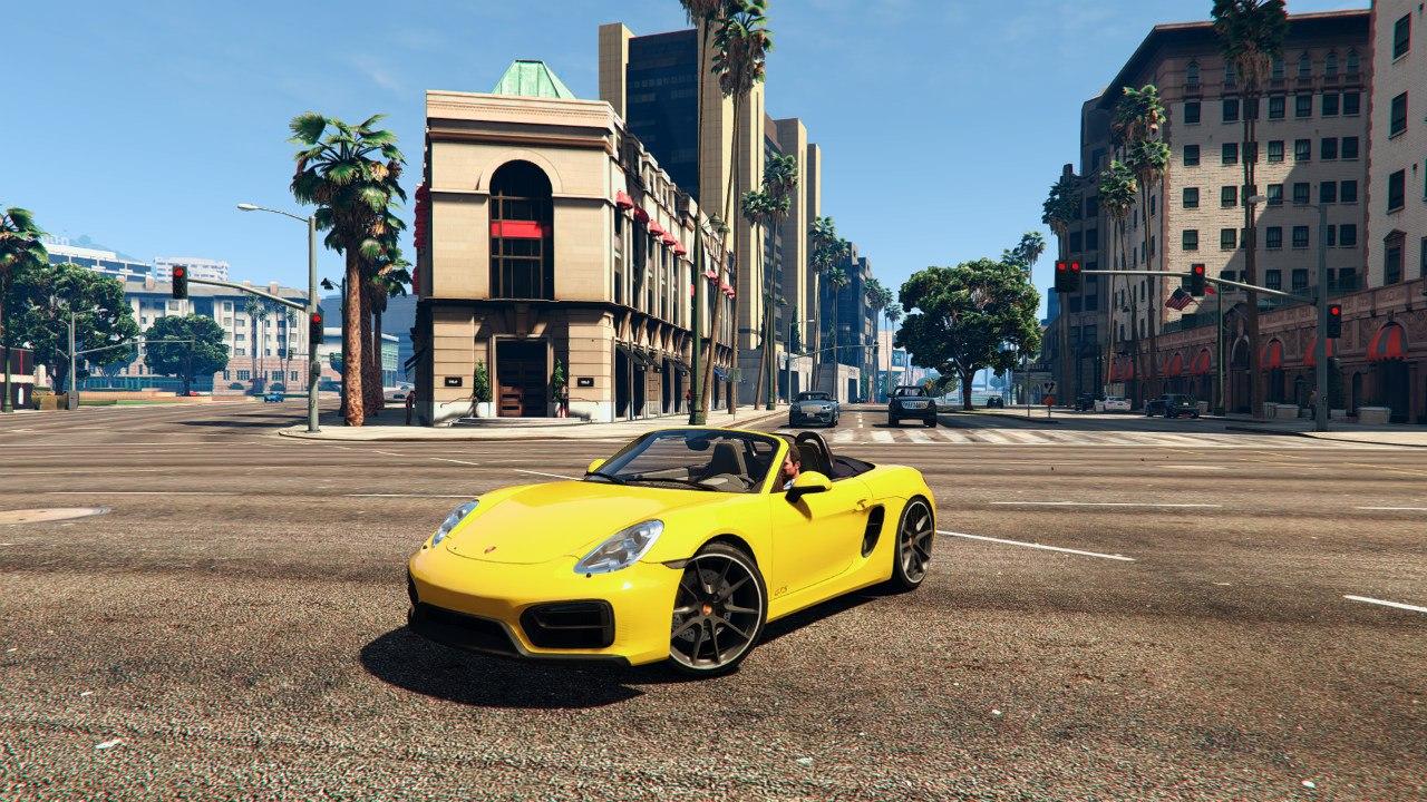 Porsche boxster GTS v0.1 для GTA V - Скриншот 2
