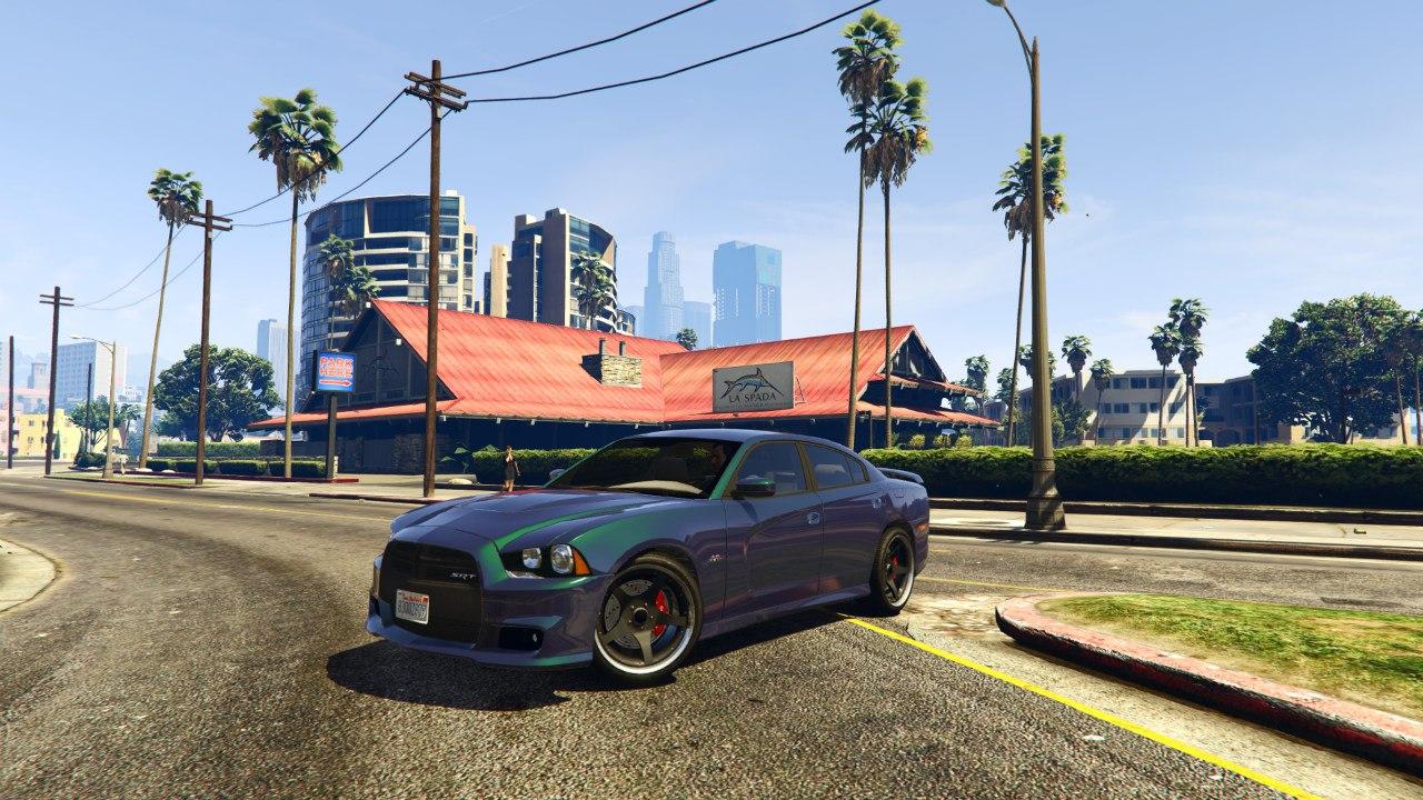 2012 Dodge Charger SRT8 для GTA V - Скриншот 3