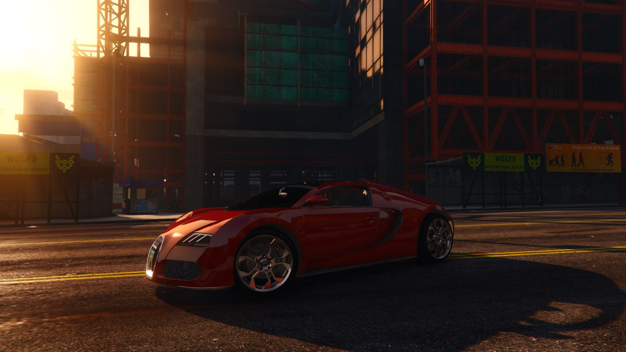 Bugatti Veyron Grand Sport v4.0 [Final] для GTA V - Скриншот 1