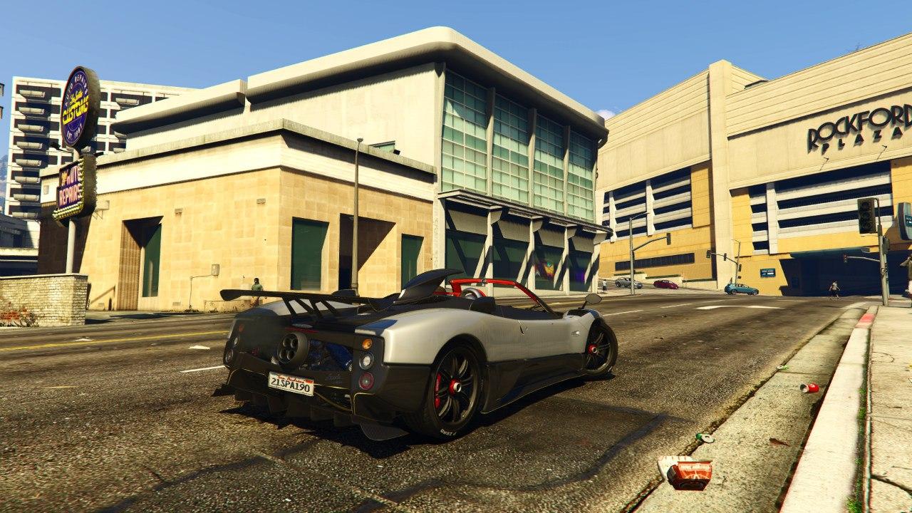 Pagani Zonda Cinque Roadster v1.1 для GTA V - Скриншот 1