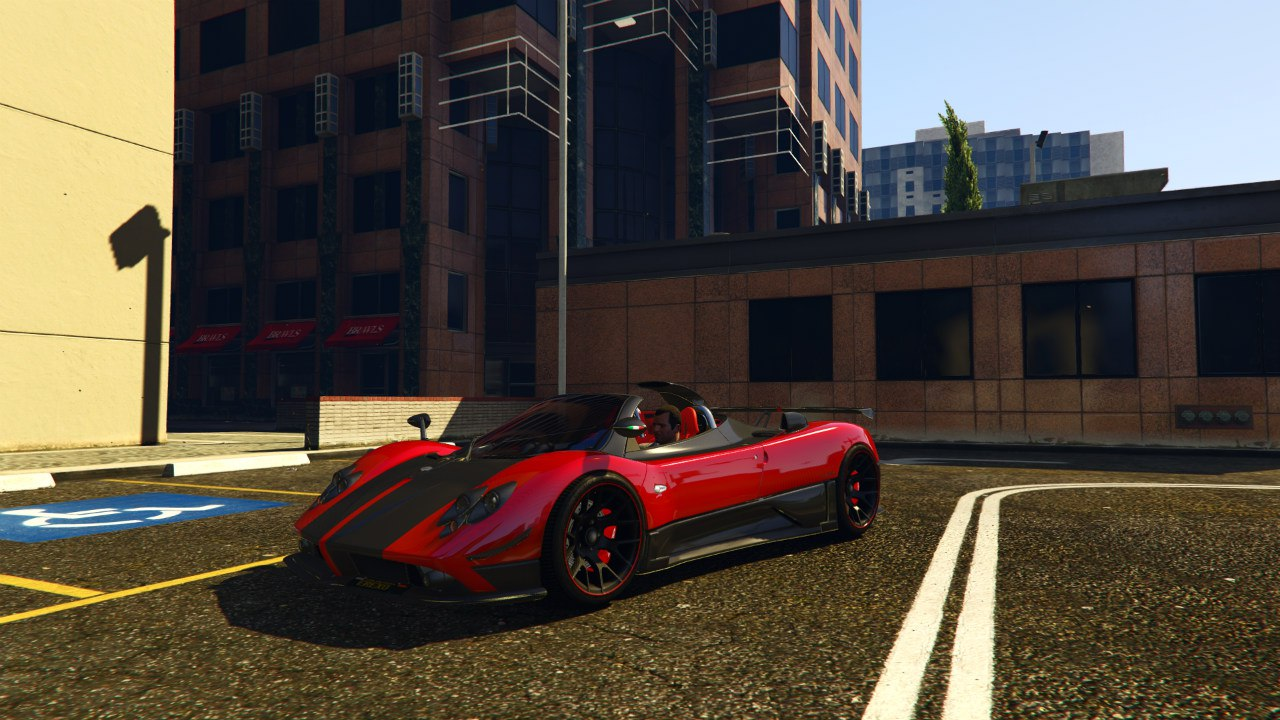Pagani Zonda Cinque Roadster v1.1 для GTA V - Скриншот 3