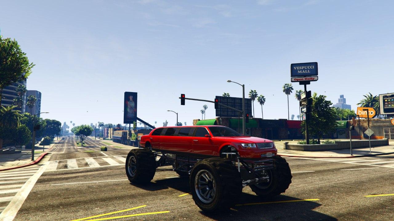Лимузин-монстр(Monster Limo) для GTA V - Скриншот 1