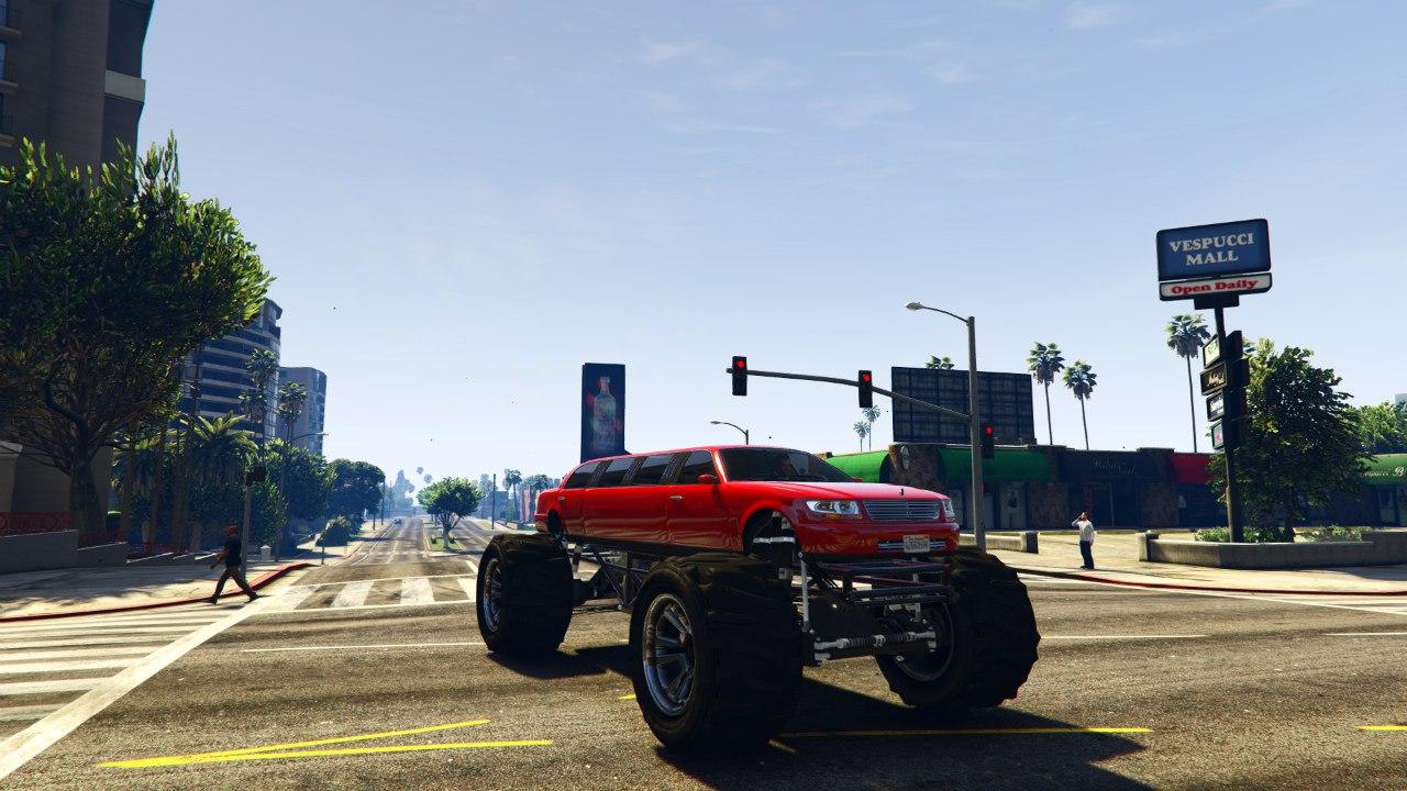 Лимузин-монстр(Monster Limo) для GTA V - Скриншот 3