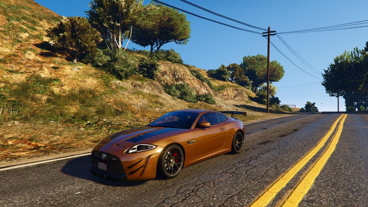 Jaguar XKR-S GT 2013 для GTA V - Скриншот 1