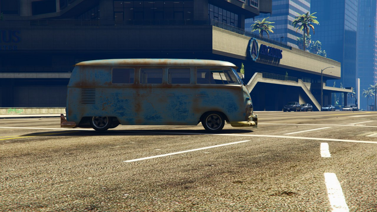 1960 Volkswagen Bus (Rat) 1.0 [BETA] для GTA V - Скриншот 2