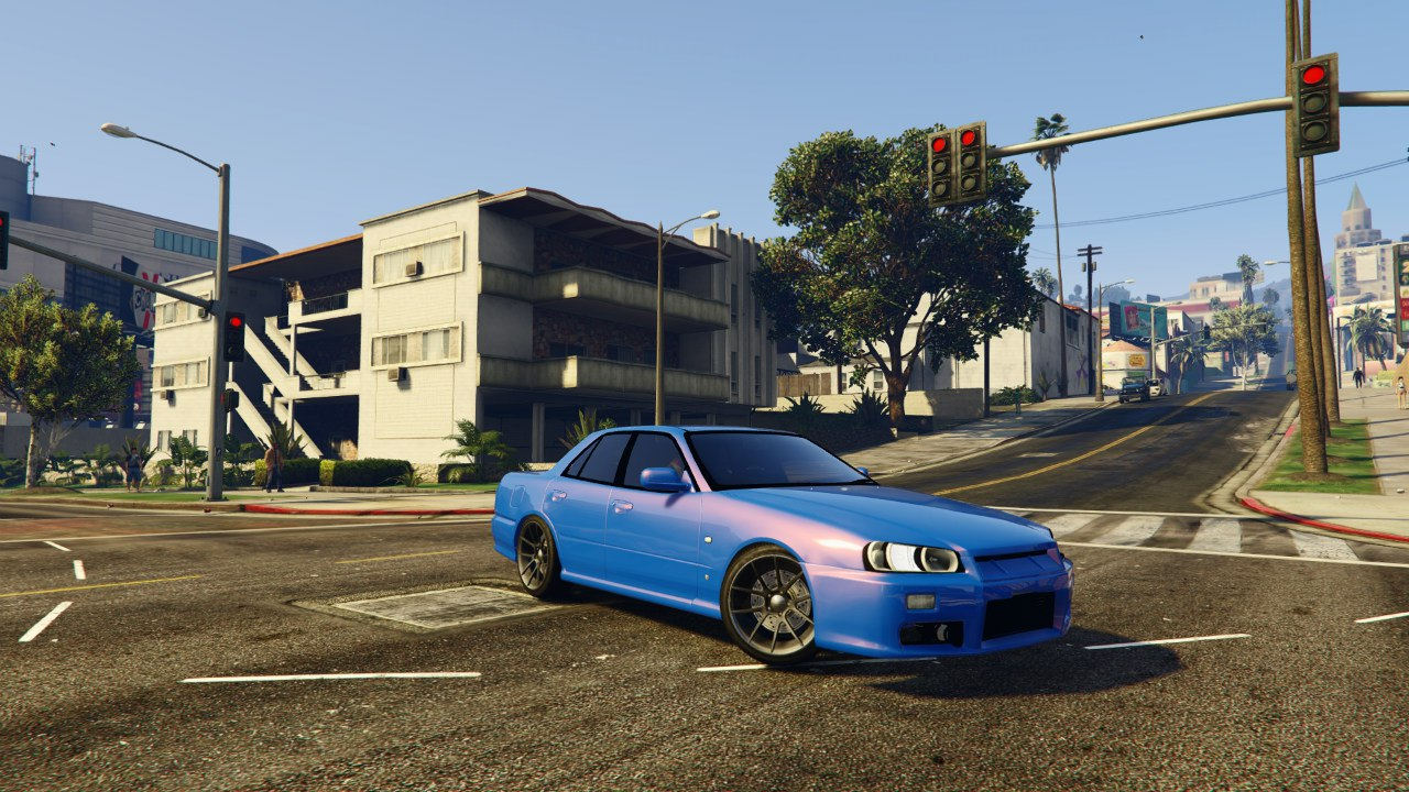 Nissan Skyline ER34 v0.1 для GTA V - Скриншот 1