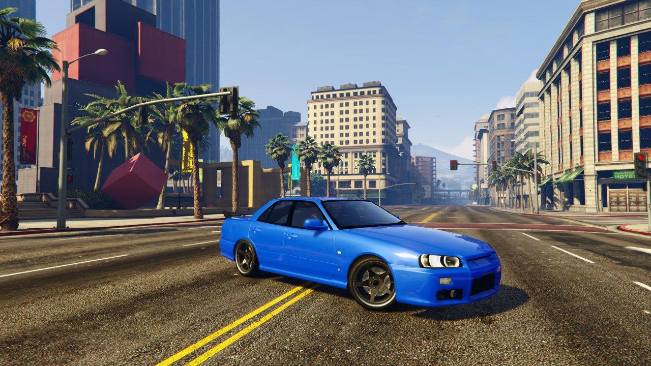 Nissan Skyline ER34 v0.1 для GTA V - Скриншот 3