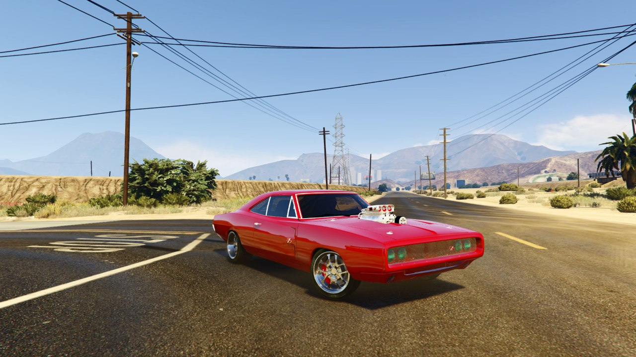 1970 Dodge Charger FF7 v0.1 для GTA V - Скриншот 1