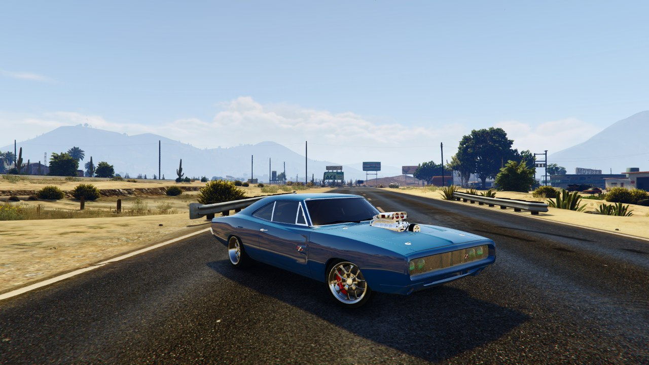 1970 Dodge Charger FF7 v0.1 для GTA V - Скриншот 3