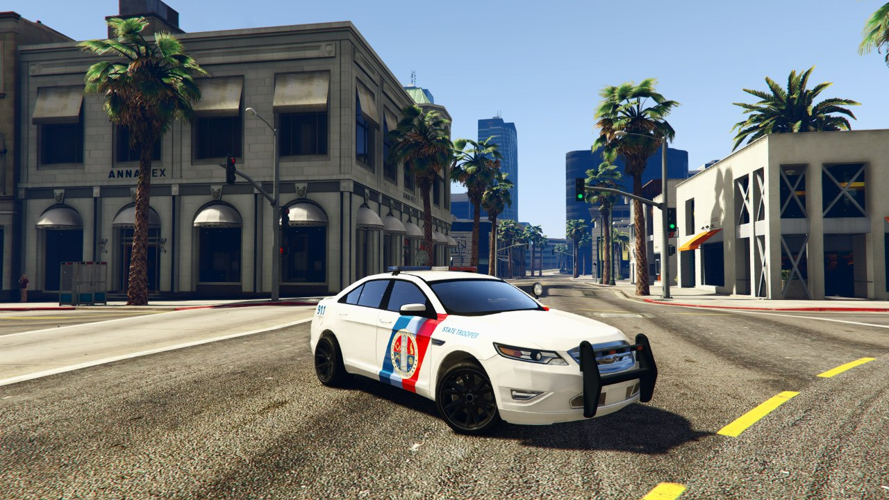 Ford Taurus State Troopers San Andreas для GTA V - Скриншот 1