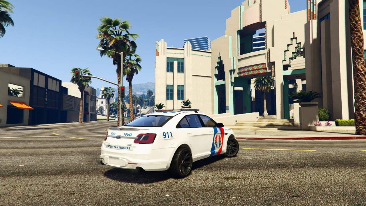 Ford Taurus State Troopers San Andreas для GTA V - Скриншот 2