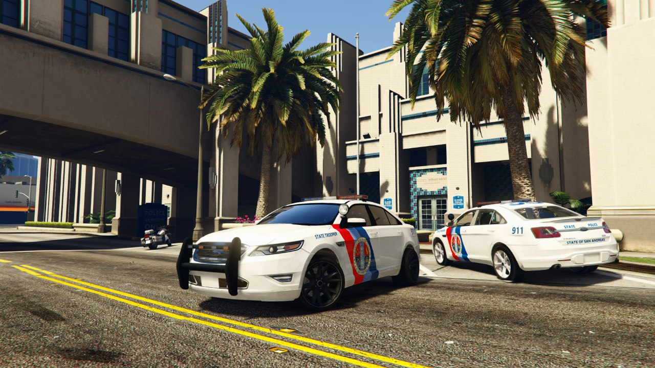 Ford Taurus State Troopers San Andreas для GTA V - Скриншот 3
