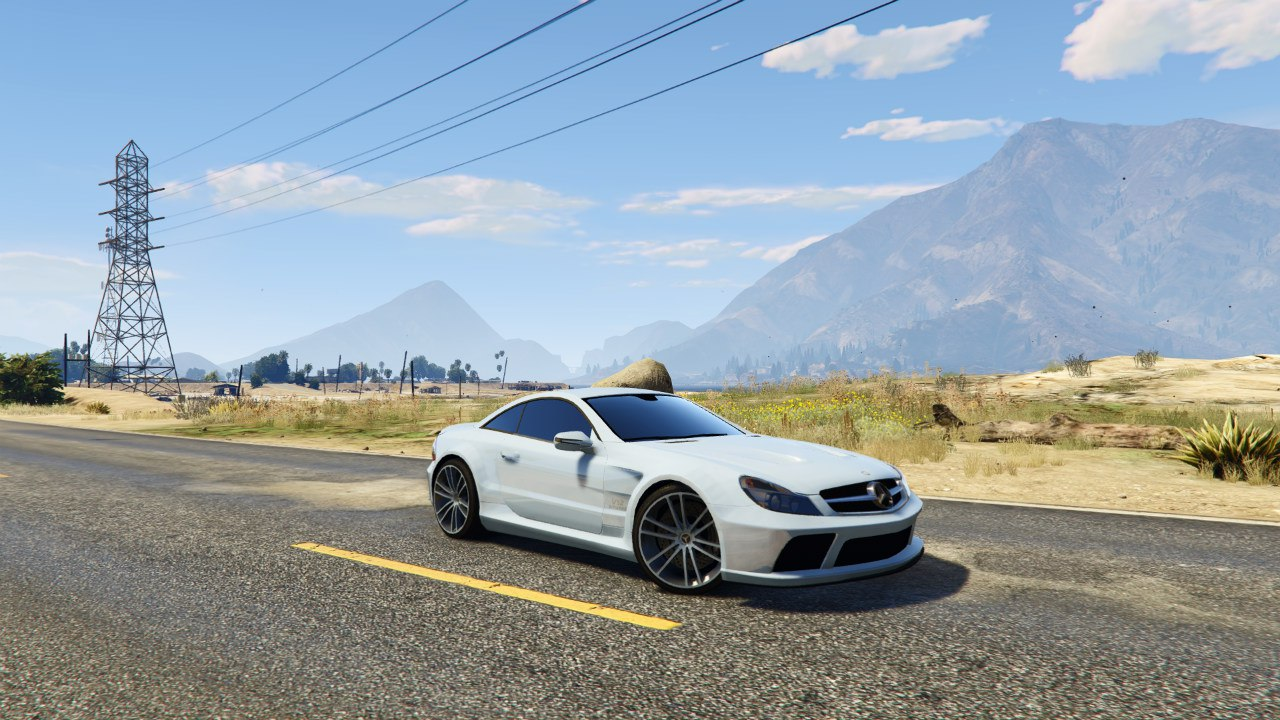 Mercedes-Benz AMG SL 65 Black Series v0.1 для GTA V - Скриншот 1