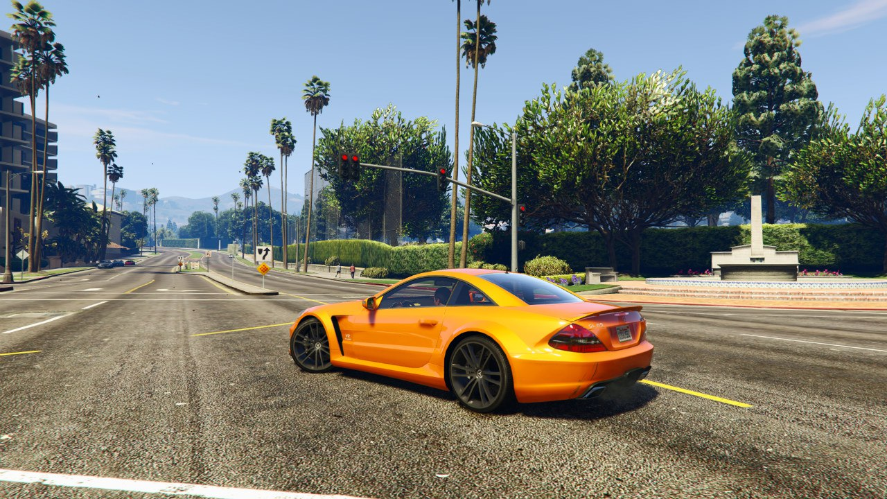 Mercedes-Benz AMG SL 65 Black Series v0.1 для GTA V - Скриншот 2