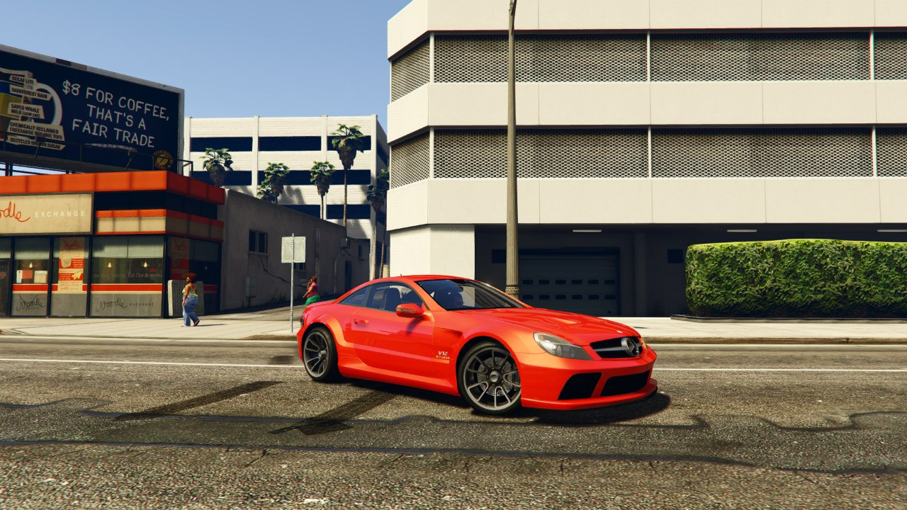 Mercedes-Benz AMG SL 65 Black Series v0.1 для GTA V - Скриншот 3