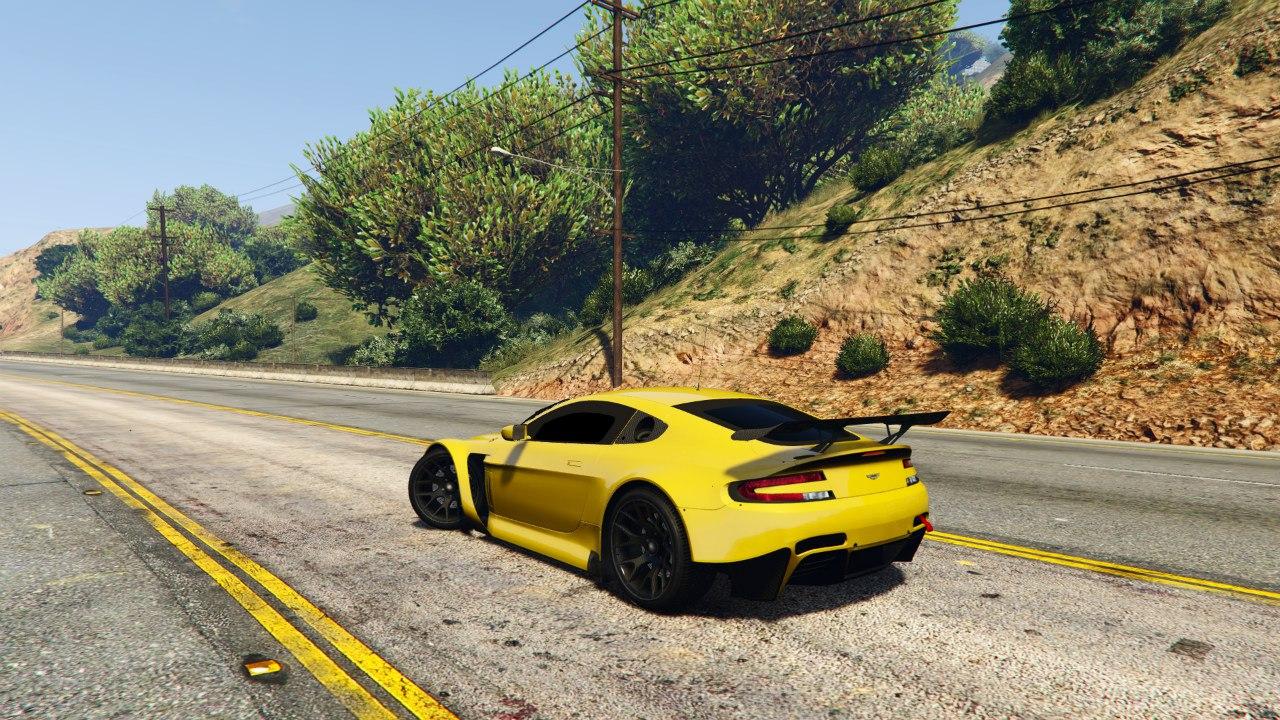 Aston Martin Vantage GT3 v0.1 для GTA V - Скриншот 1