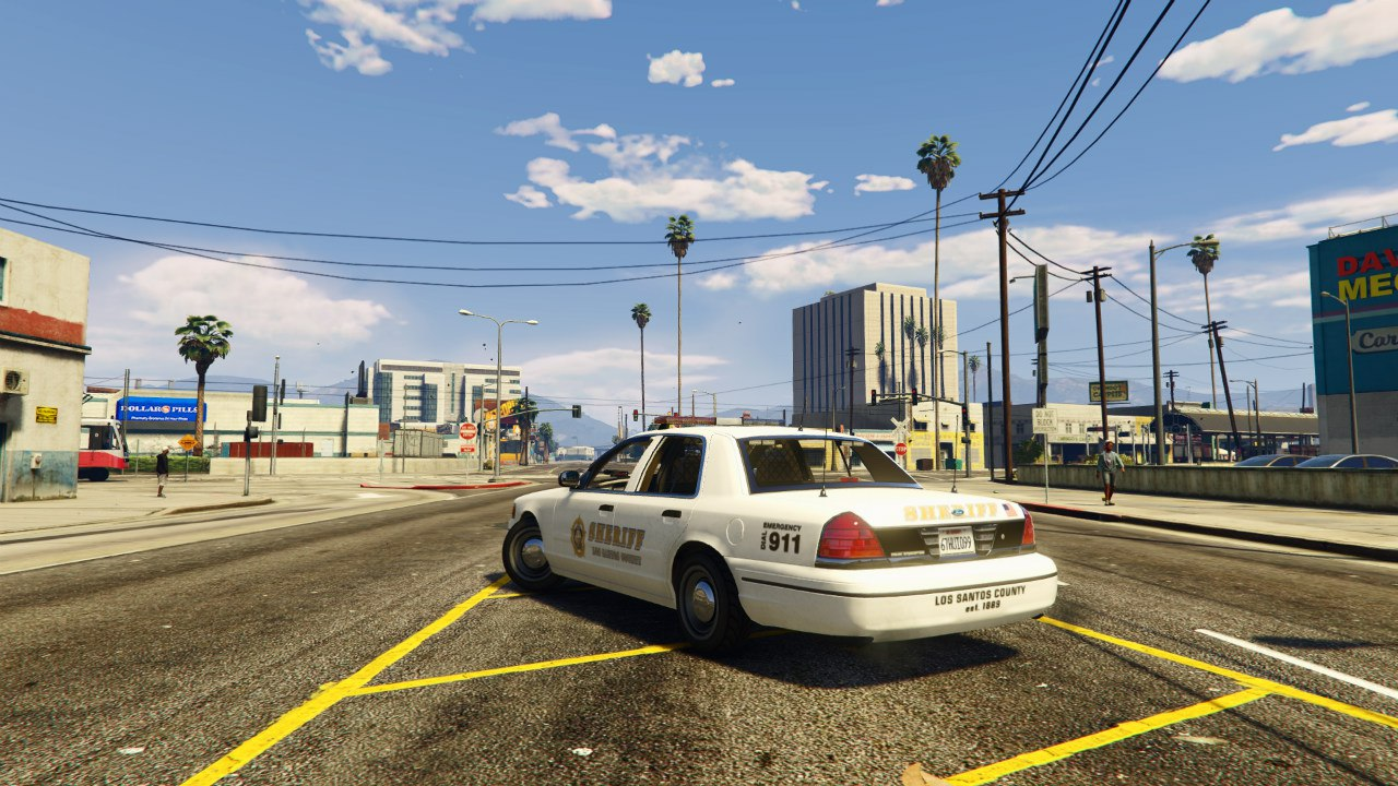 1999 Ford Crown Victoria Police v1.2 для GTA V - Скриншот 1