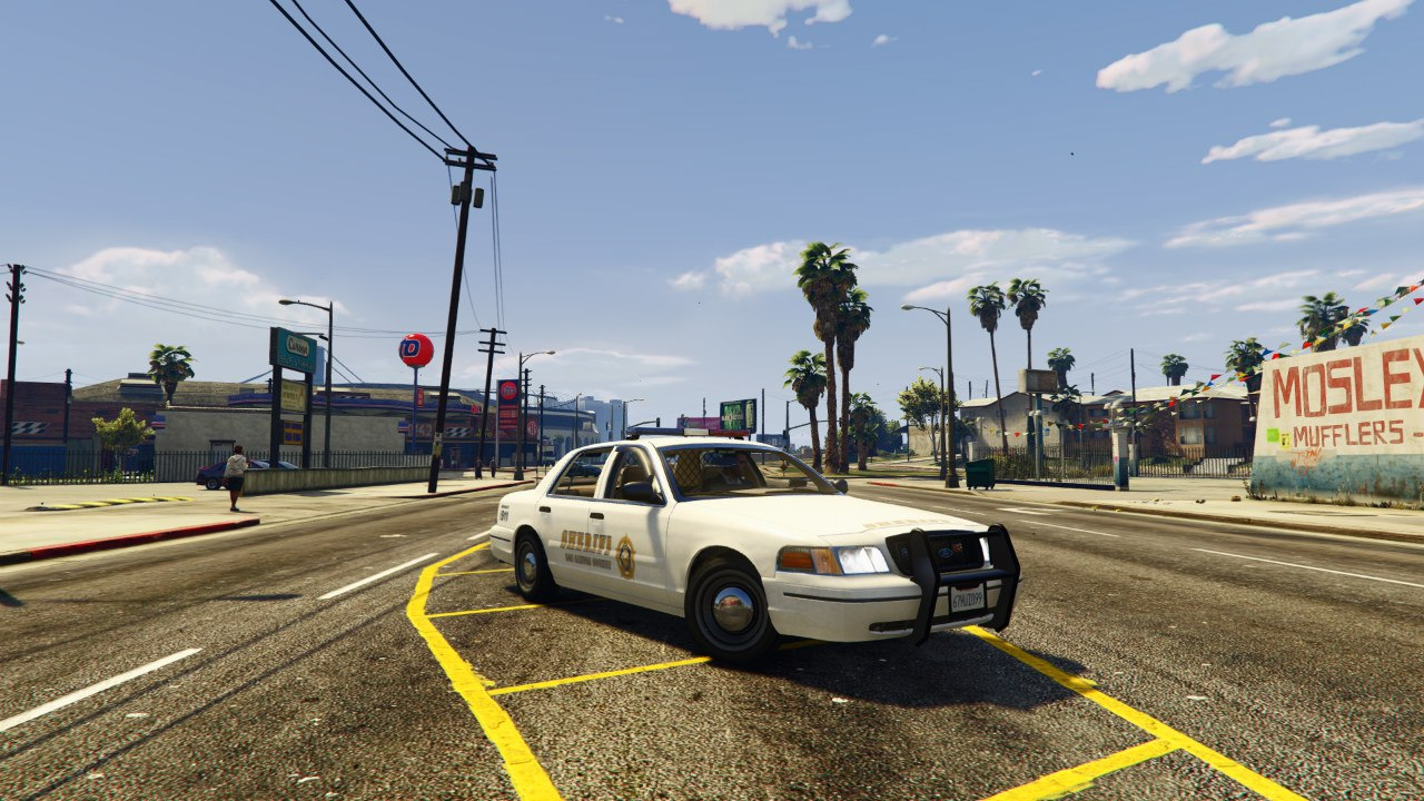 1999 Ford Crown Victoria Police v1.2 для GTA V - Скриншот 2