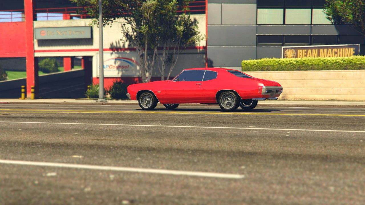 1970 Chevrolet Chevelle SS v1.0 для GTA V - Скриншот 3