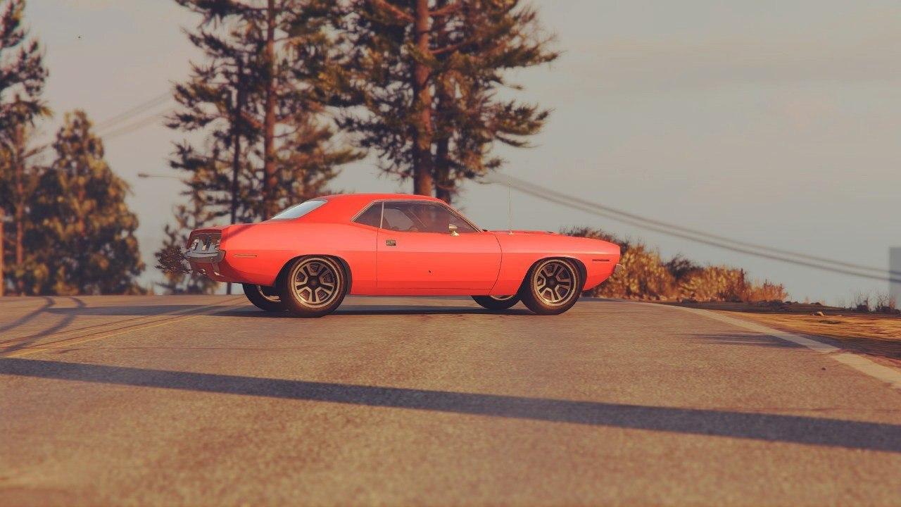 Plymouth Barracuda 1970 v0.1 для GTA V - Скриншот 2