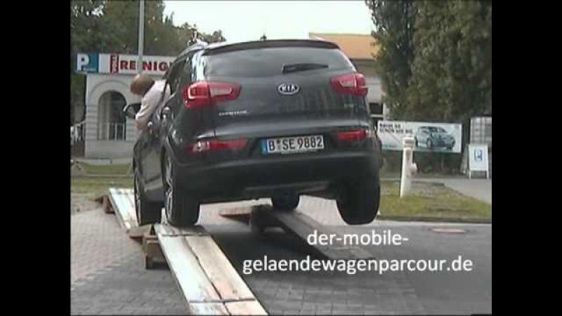 Kia Sportage Berlin, Onlinemotor, Geländewagenparcour
