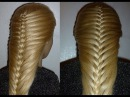 Французская коса-Изящная. Причёска для средних, длинных волос.Причёски для дево ...