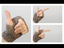Как связать митенки на двух спицах ANNETORIUM knits