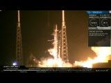 Старт Falcon 9 и успешная посадка первой ступени ракеты на мысе Канаверал
